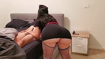 girl with a thick butt is fucked by her doctor. nice ass