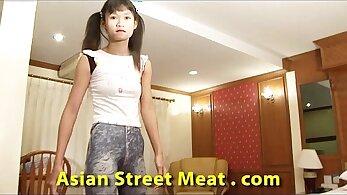 Pregnant Thai teen getting dental job in hotel attic