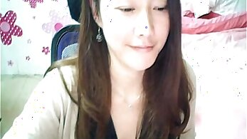 Chinese live webcam show, big tits topless
