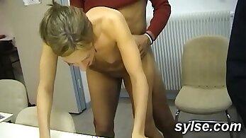 Ashley Aubrey anal Gangbang with some MILF BBC