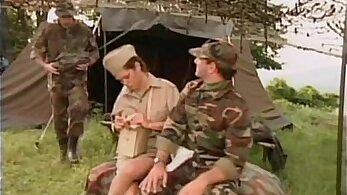Army Nurse Devirginized In Front Of Hussie Rider