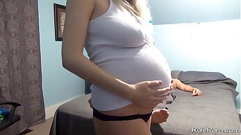 Blonde Girl Totally Pregnant Creampie Explosion