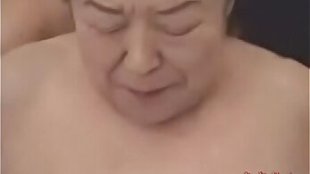 Japanese girl pleases her granny again in her bed