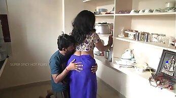 Indian mom fucks her son outside