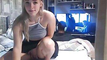 Amazing teen upskirt on webcam