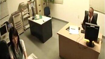 Office Secretary Sideways Blowjob