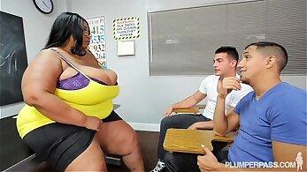 Busty Black BBW Facials With Teacher Corinna Lynn
