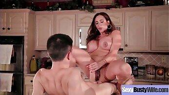 Big juggs slutty housewife got seriously fucked hard by her nice boy