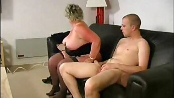 Supernautic Snot Cowgirl Granny Get Eaten By Two Guys