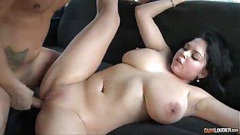 AmateurAsian Big Natural Boobs licks and sucks