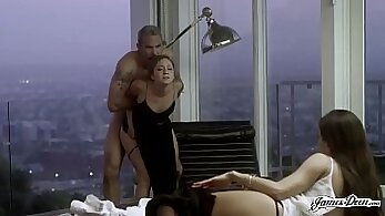 Cheating wife anal fucked while husband is around