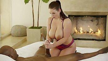 Beautiful porn model Kathy Nicole interracial sex