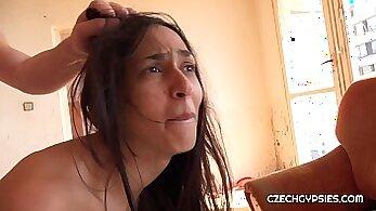 Awesome czech girl gives her boyfriend a rim job