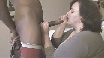African bbw sucking on her husband cock