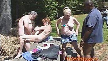 Best friends having sex in public