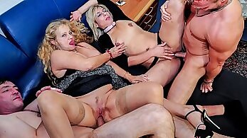 BadPuppeteers Swedish Mature Foursome