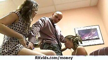Bitch Pays For Her Schlong To Suck Dick In Money Talks Stunt