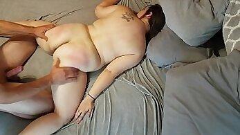 BBW Sucks Balls When She Gets Cummed