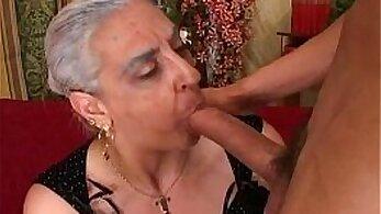 AMILD - Latina Granny Enjoying A Hard Cock Anal Fuck
