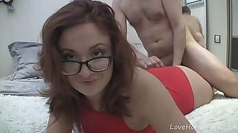 Awesome redhead GF show off her nice juicy naturals