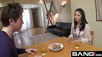Attractive Japanese harlots giving blowjobs