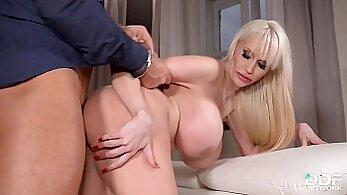 Busty Blonde Catches Her Hung Boyfriend Fucking Her Babe