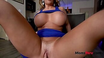 Big butt latina mom showing off her pussy
