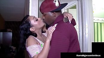 Cute black chick is getting stretched sexy spreado and she is defaced