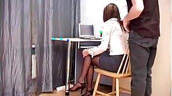Billie Star Calatinking straight headed office boss