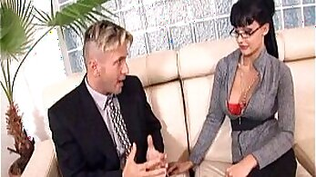 Aletta Ocean blowjob Alyssas boss bating his nut while