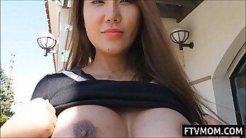 asian busty hawt milf flashing full clip