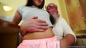 AndreaSex having intercourse with grandpa on pov