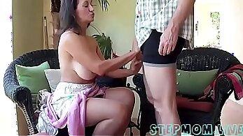 Busty stepmom vagina banged by hubby